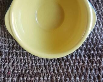 Lovely Heavy Small Glazed Ceramic Pottery Bowl!