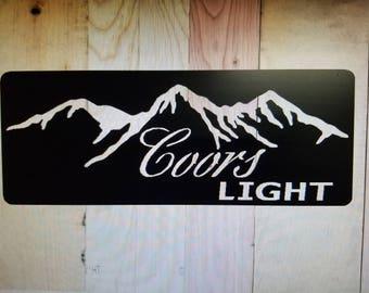Coors light metal sign