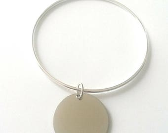 Rigid silver bracelet charm 30 mm (not brand DELOCHE.)
