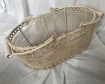 Cream coloured vintage basket