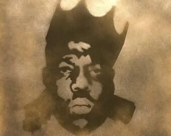 Notorious BIG - Biggie Smalls Original Spray Art on MDF Hip Hop