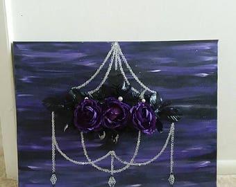 Black Flower Chandelier