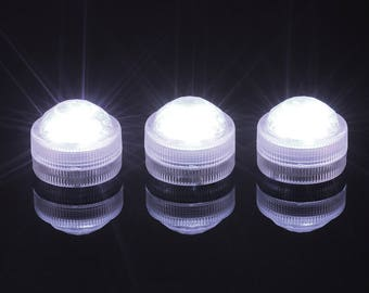 1pcs,10pcs/lot led tea lights/ Candle Light Waterproof Diving Emitting Diamond Aquarium Lights Discus Light Festival/Triple LED Submersible
