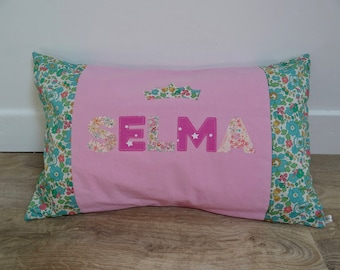 "Pillows with custom ""Selma"""