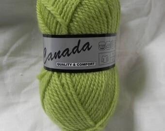 lime green canada 60 40 acrylic yarn wool, needles, 4 or 4.5