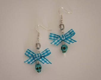 -Cute Blue Skull earrings