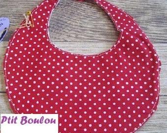 Bib baby Prema PB26 red dots