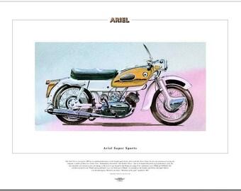 ARIEL SUPER SPORTS - Motor Cycle Fine Art Bike Print
