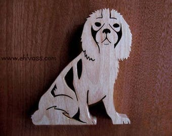 Solid wood fretwork rider Kingcharles sculpture