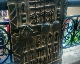 Small Moroccan attic door wood tuareg sahara carved Morocco Africa