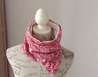 Soft and warm, soft and comfortable jersey cotton and liberty scarf