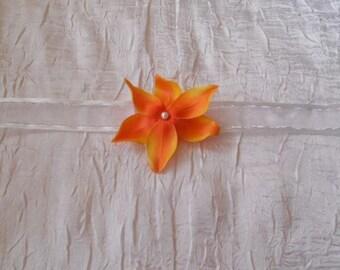 "orange flower ""wedding procession"" Ribbon Bracelet"