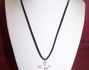 """Silver man """"anchor"""" necklace"""
