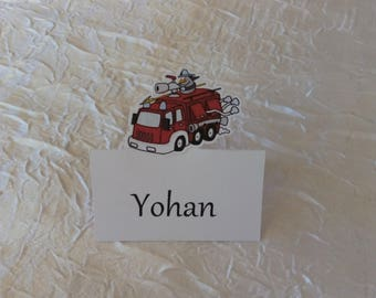 Marked firefighter theme room