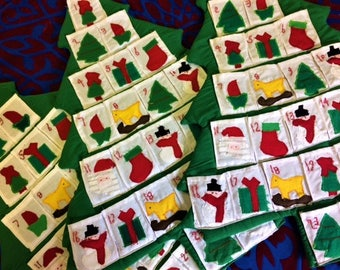 Hand-sewn Advent Calendars, from Egypt