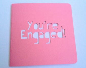 SALE - You're Engaged Greetings Card Couple Congratulations Engagement Marriage Wedding