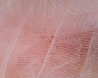 5 meters of soft tulle pink width 25 cm