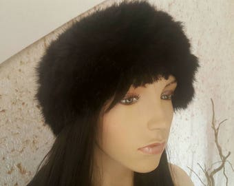 Genuine rabbit fur headband
