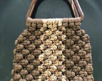 Macrame Brown purse