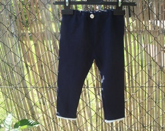 Navy Blue stretch cotton girl shorts