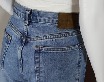 90's Calvin Kleins/waist 30/button fly jeans, mom jeans