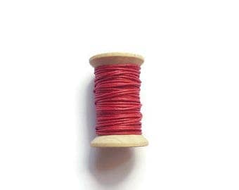 Red waxed cotton threads