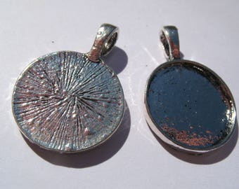 Supports for cabochons 18 mm pendants