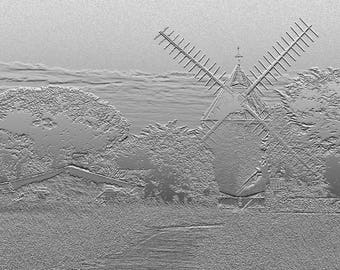 Ré windmill - Monochrome Art Photography