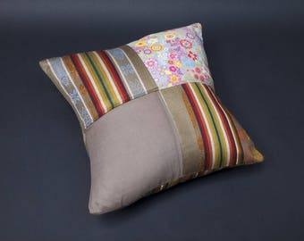 PATCHWORK AND CO. COLLECTION -COTTON-CARAMEL TONES AND COFFEE