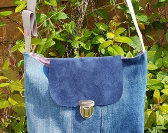 Upcycled denim shoulder bag