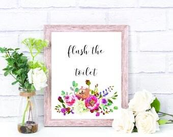Flush the Toilet Bathroom Printable