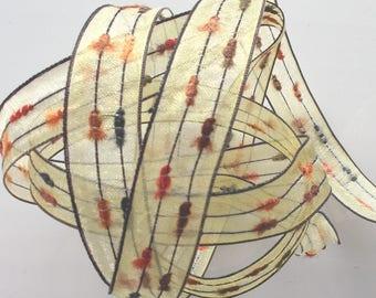 X 5 m - yellow chocoat orange Ribbon veil # 1428