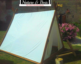 Viking tent wood and PVC fabric, to order