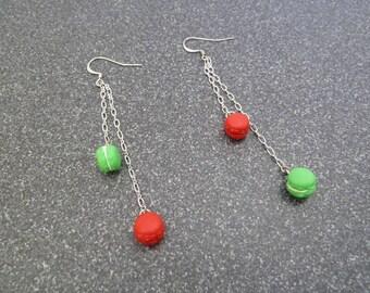 "Earrings dangling ""macaroon"""