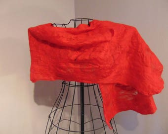 Hand Felted Wrap - Red Woman