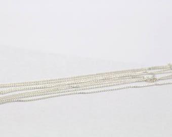 1 m of fine silver chain