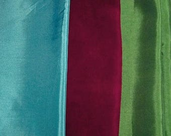 Drop of turquoise, light green lining fabric