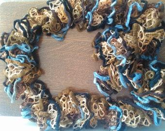 Adult wool fancy ruffle scarf