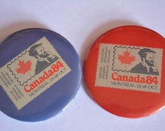 Vintage National Philatelic Exhibition Button Pins