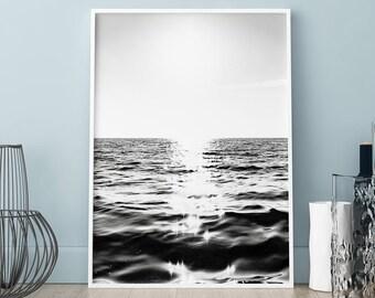 Sea poster, Sea waves print, Wall art, Art Print, Scandinavian print, Scandinavian poster