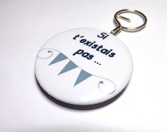 Keychain bottle opener badge 58mm back if you didn't exist...