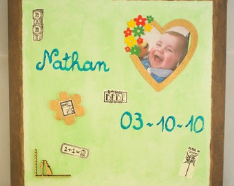 Personalized with photo and magnet memo Board