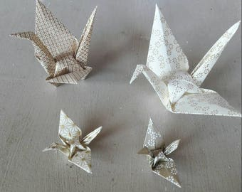 Cranes family decorative origami