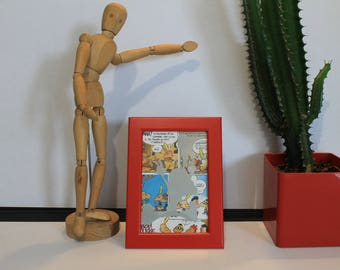Red frame 10 x 15 titeuf jumps with joy