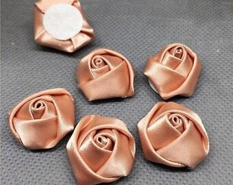 set of 10 satin flower