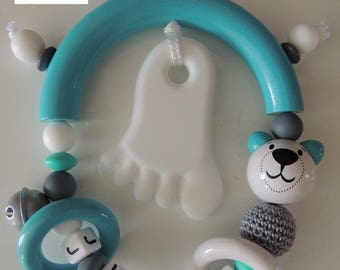 Personalized teething rattle * Jules *.
