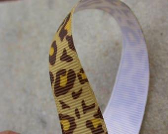 Ribbon grosgrain leopard 10mmx1metre