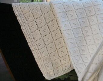 Shawl or shoulder cover white triangle, white glitter or black