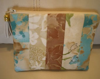 patchwork in shades of beige fabric Pocket