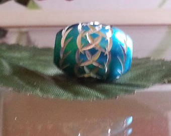 Europeans aluminum, cuddled, metal beads 16 x 10 big hole 5mm